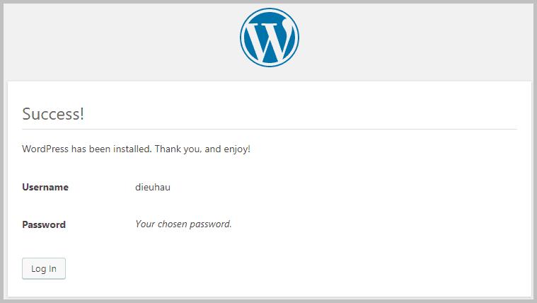 WordPress-install-success