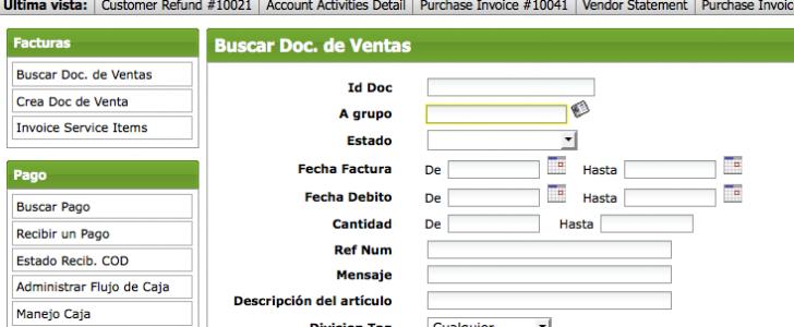 Opentaps Financials Spanish