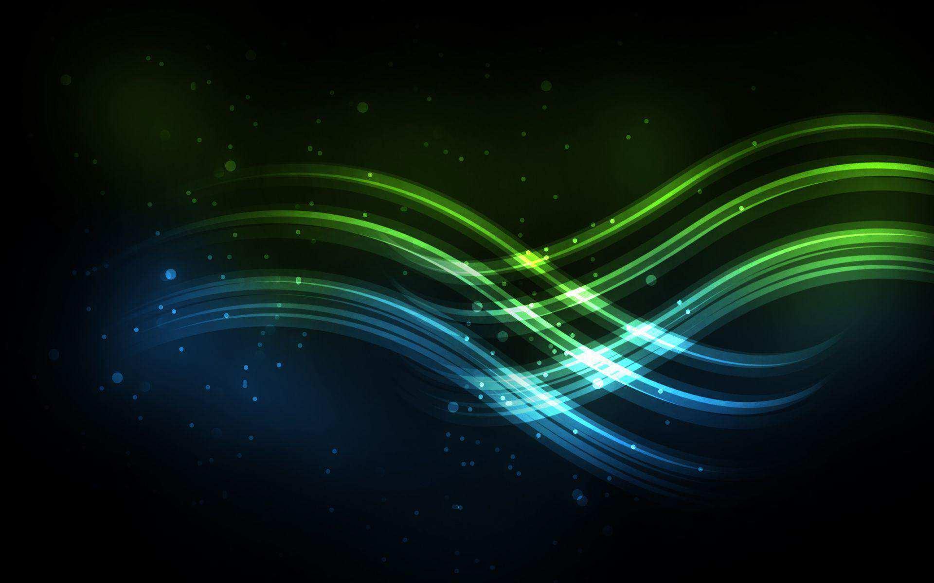 Hình nền máy tính HD các đường sáng xanh đẹp