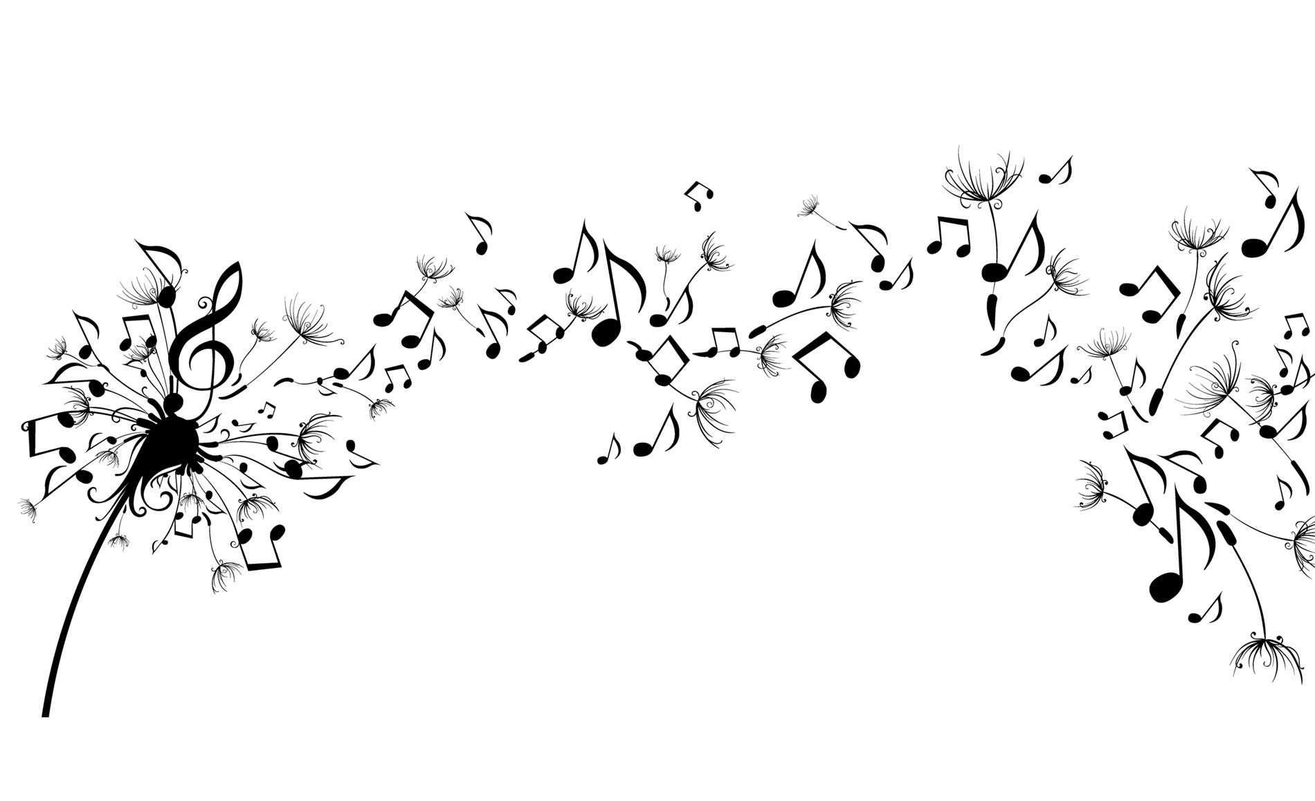 Hình nền máy tính HD những nốt nhạc bay bổng đẹp