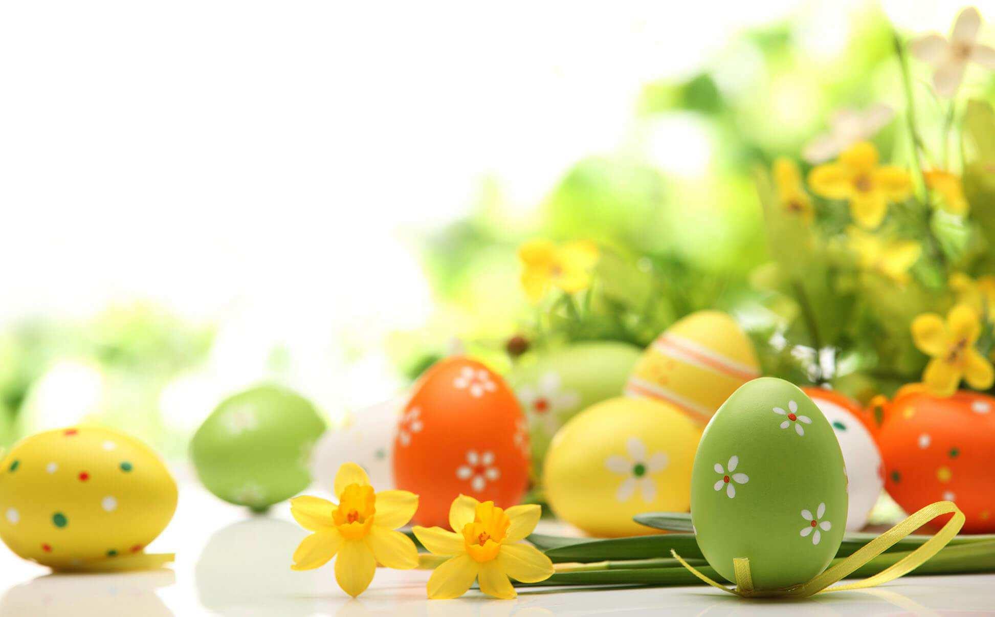 Hình nền máy tính HD những quả trứng nhiều sắc màu cực đẹp