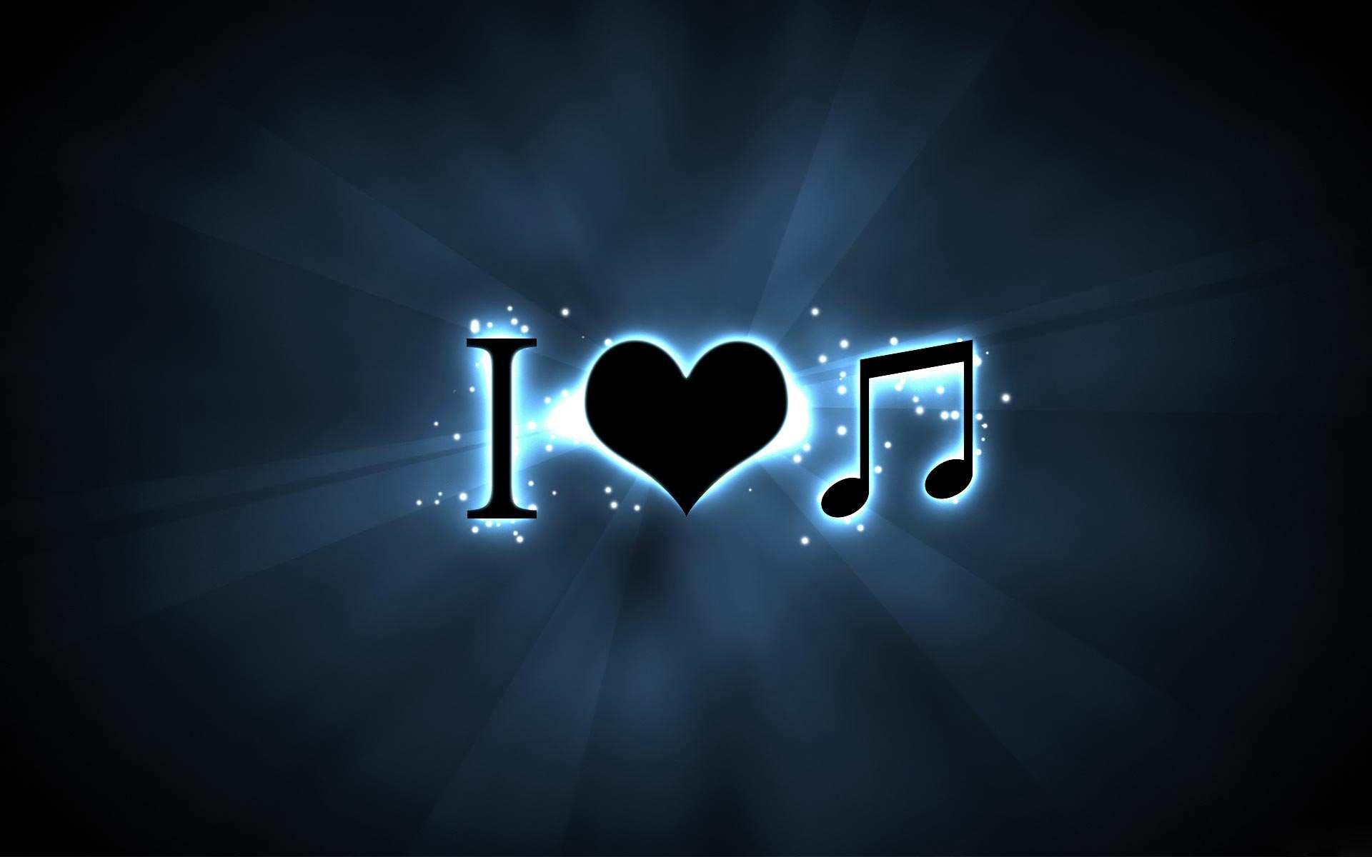 Hình nền máy tính HD tôi yêu âm nhạc đẹp