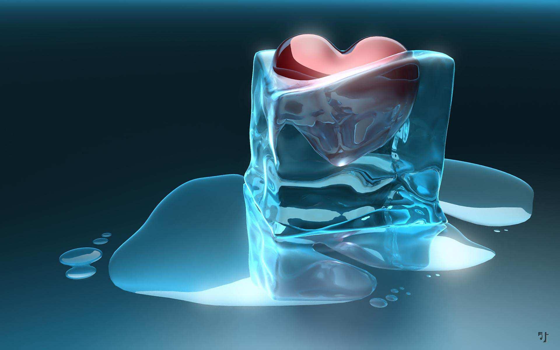 Hình nền máy tính HD trái tim tan chảy cực đẹp