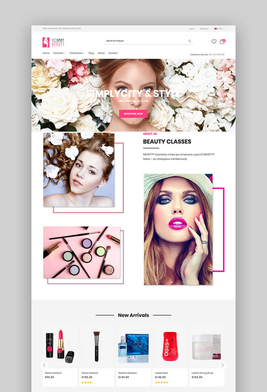 Cosmify fashion theme