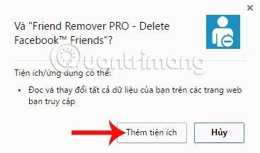 Thêm tiện ích Friend Remover Pro Chrome