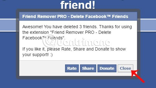 Friend Remover Pro hủy kết bạn Facebook