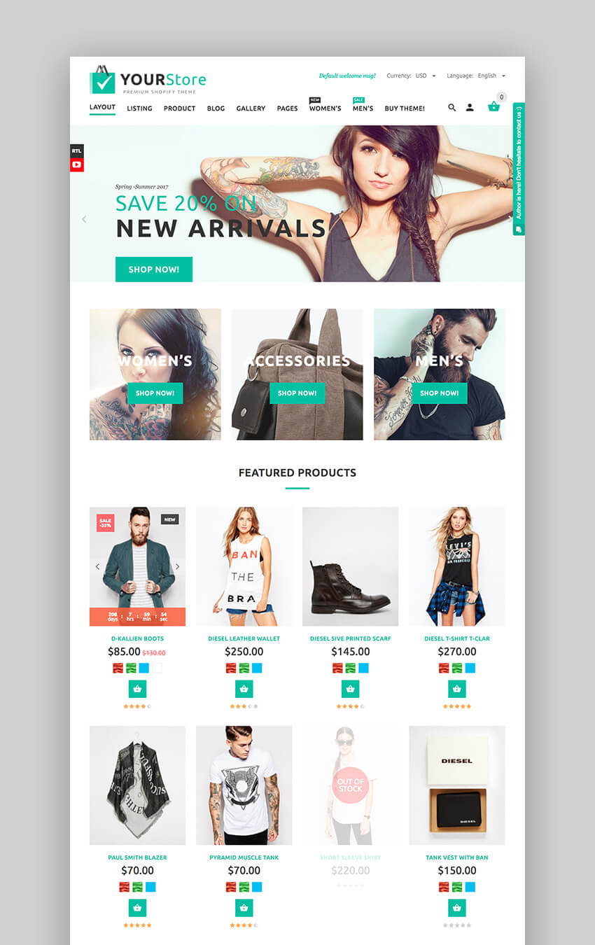 YourStore Multipurpose theme