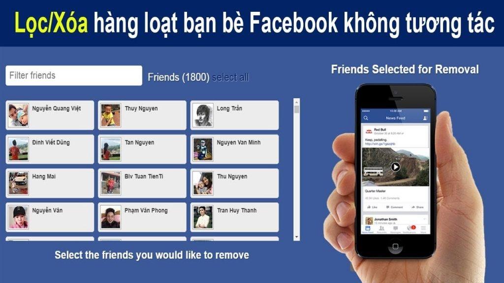 Kết quả hình ảnh cho unfriend hàng loạt trên Facebook
