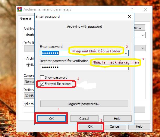 Cách đặt mật khẩu cho File, Forther trong Windows 10 / 8 / 7 / Xp 5