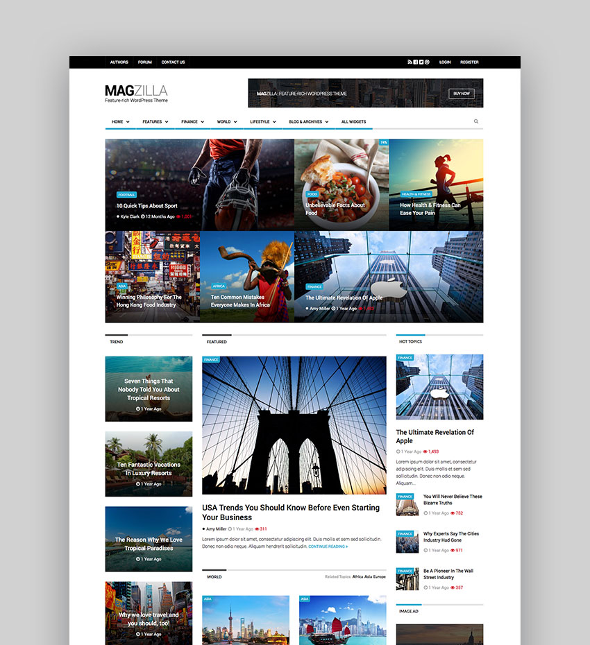 Magzilla - For News Sites Magazines and Blogs