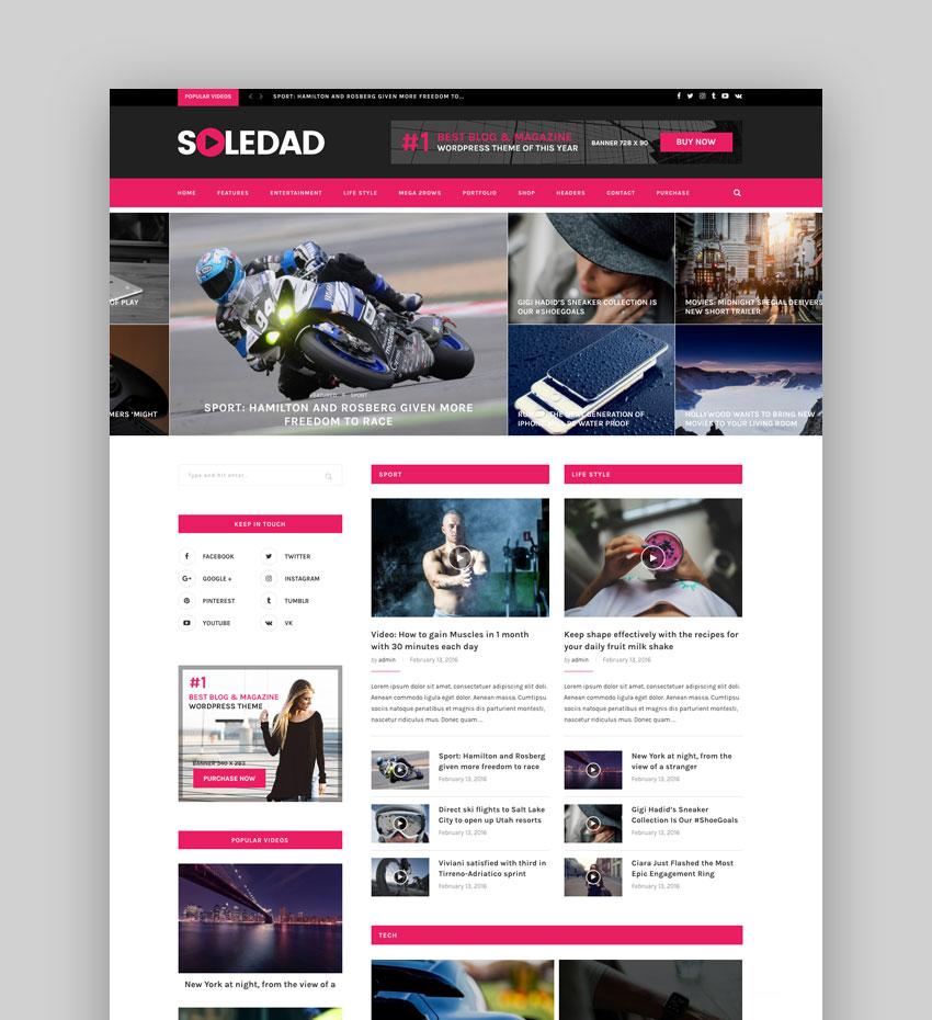 Soledad - Multi-Concept BlogMagazine WP Theme