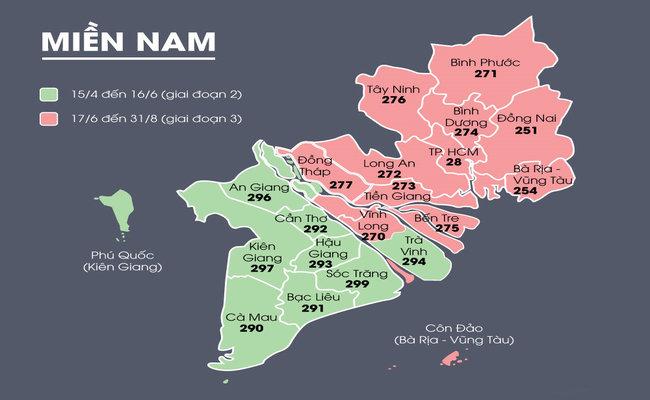 Mã bưu chính 63 tỉnh & Bảng mã vùng điện thoại di động cố định mới nhất 2020 3