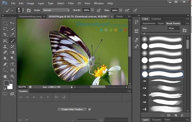 Công cụ vẽ của Photoshop CS6
