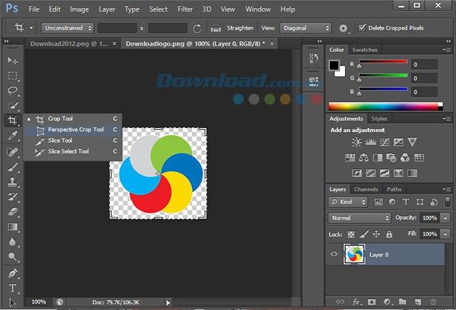 Perspective Crop của Photoshop CS6
