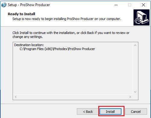 Click chọn Install