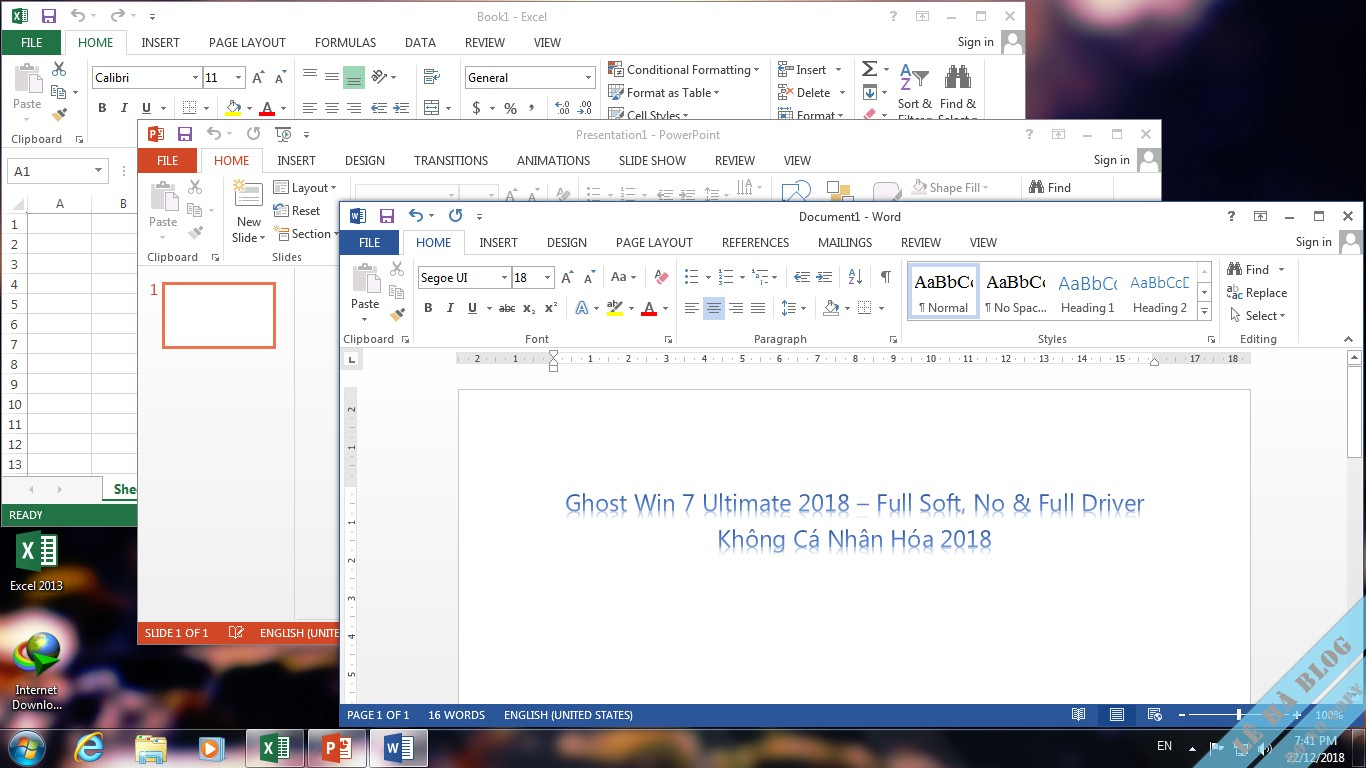 ghost win7 full driver 2018