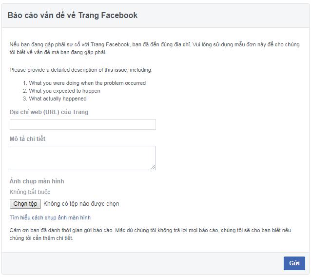 Hướng dẫn chat với đội ngũ support facebook