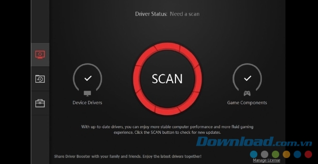 Giao diện của IObit Driver Booster 5 Free