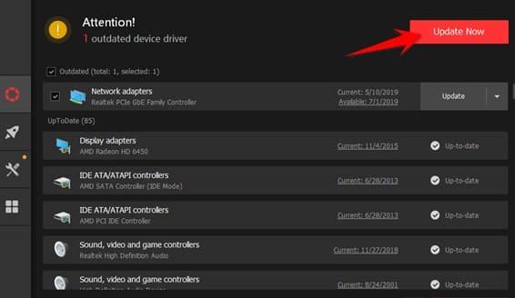 phần mềm tìm driver máy tính Driver Booster 7 Full License