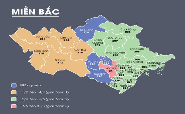 Mã bưu chính 63 tỉnh & Bảng mã vùng điện thoại di động cố định mới nhất 2020 1
