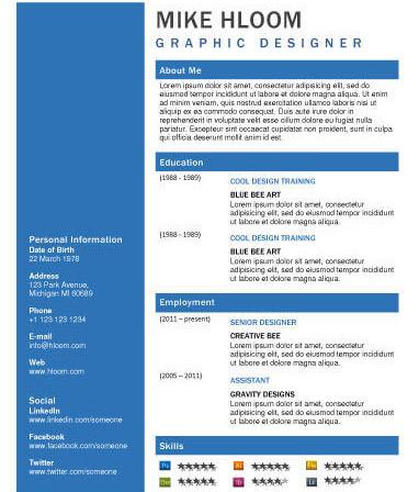 Mẫu CV xin việc cho thiết kế