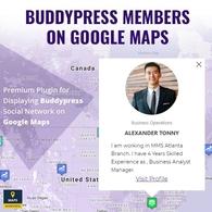 Thành viên BuddyPress trên Google Maps