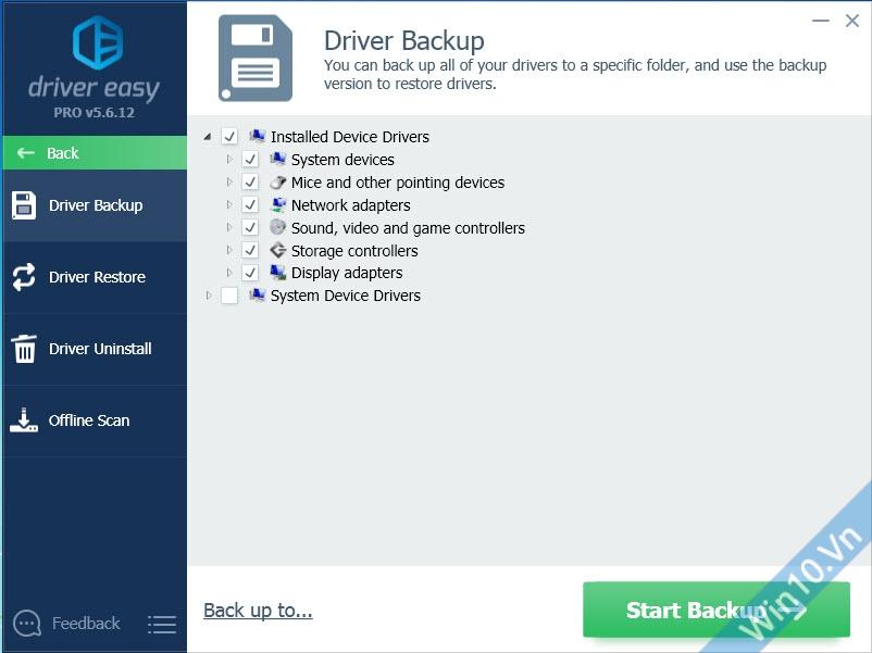 Backup và Restore Driver - Driver Easy Pro 5.6.14.33488
