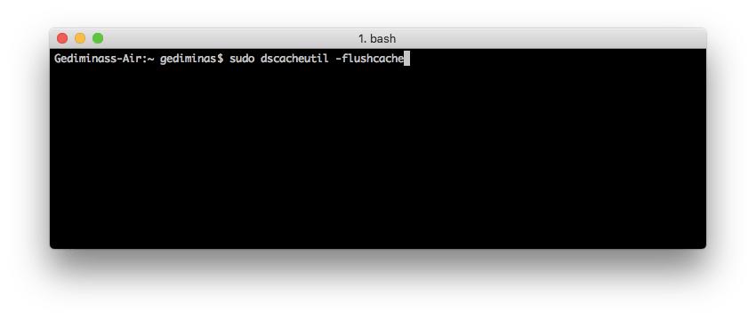 Flush DNS trên Mac OS X Snow Leopard sử dụng Terminal