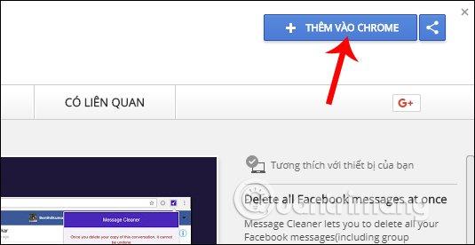 Tiện ích Message Cleaner Chrome