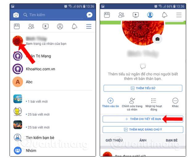 Cách hiển thị số người theo dõi trên Facebook (Android) - Ảnh 1