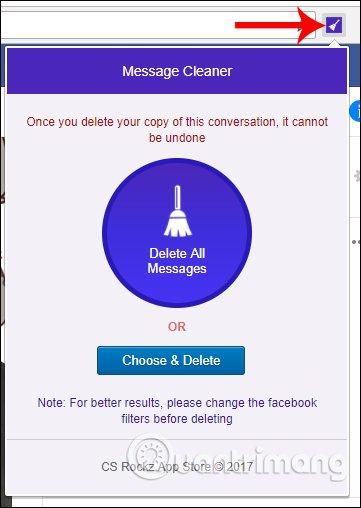 Tùy chọn xóa tin nhắn bằng Message Cleaner