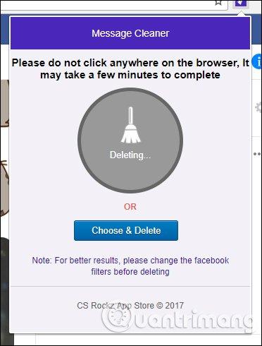 Message Cleaner xóa tin nhắn Facebook
