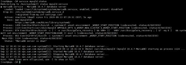 MySQL không hoạt động