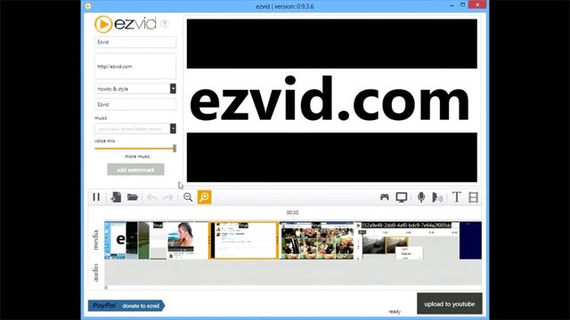 Phần mềm Ezvid Video Maker