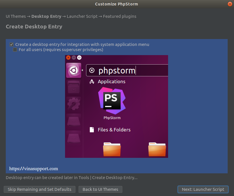 Huong dan cai dat PhpStorm IDE tren Ubuntu Step 5