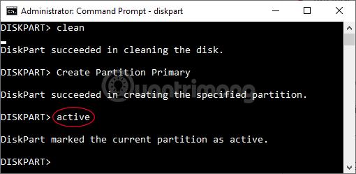 Nhập Format fs=FAT32 rồi nhấn Enter