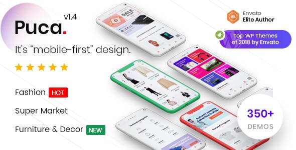 Puca Optimized Mobile WooCommerce Theme