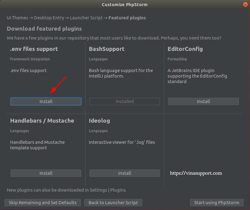 Huong dan cai dat PhpStorm IDE tren Ubuntu Step 7