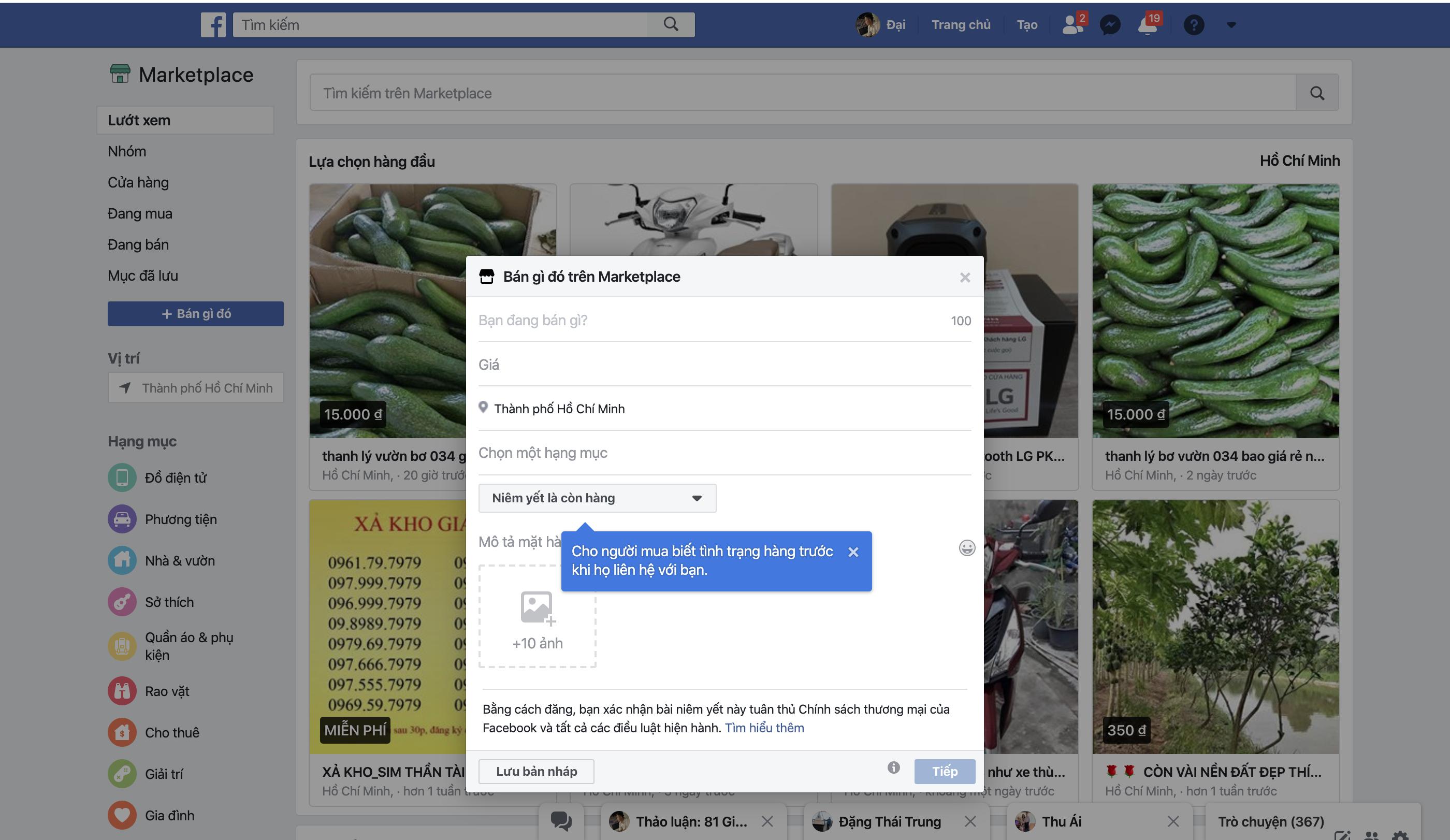 Hướng dẫn chi tiết cách đăng bài bán hàng ở Facebook Marketpalce trên điện thoại và máy tính 3
