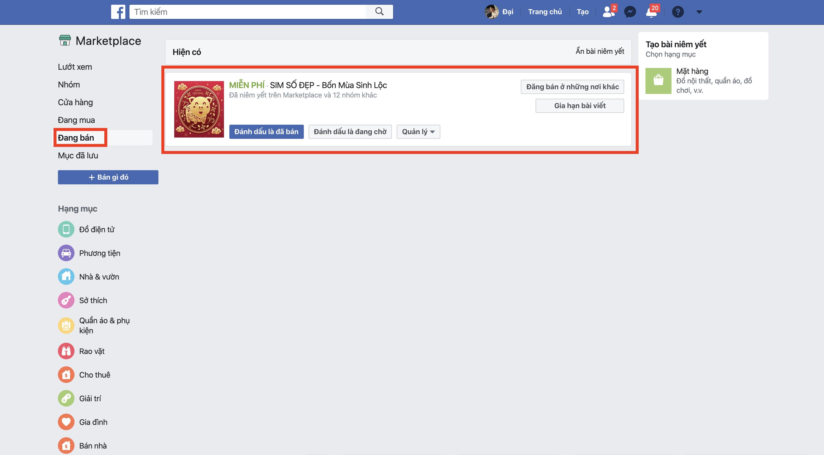Hướng dẫn chi tiết cách đăng bài bán hàng ở Facebook Marketpalce trên điện thoại và máy tính 4