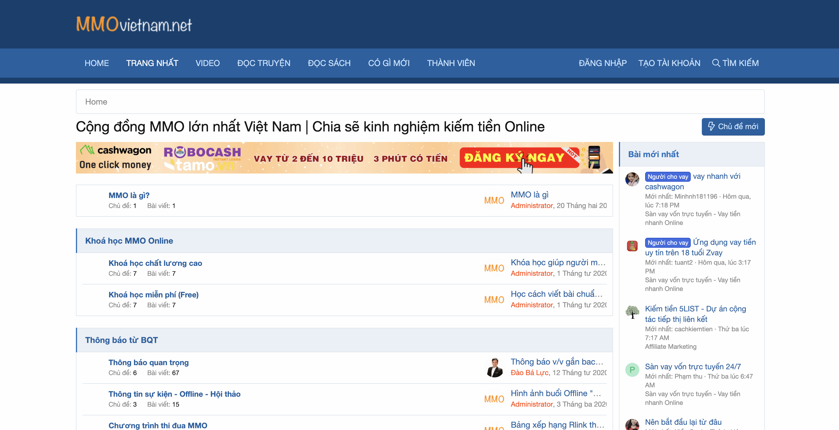 10+ Website cung cấp kiến thức về kiếm tiền Online (MMO) tốt nhất 2020 5