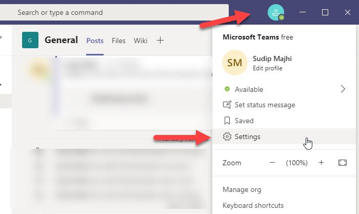 Enable dark mode on Microsoft Teams