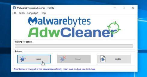 Khi chương trình đã mở, click chọn nút Scan