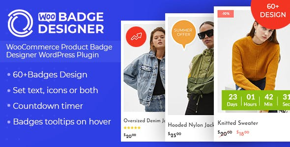 Woo Badge Designer v1.0.8 - WooCommerce Product Badge Designer WordPress Plugin