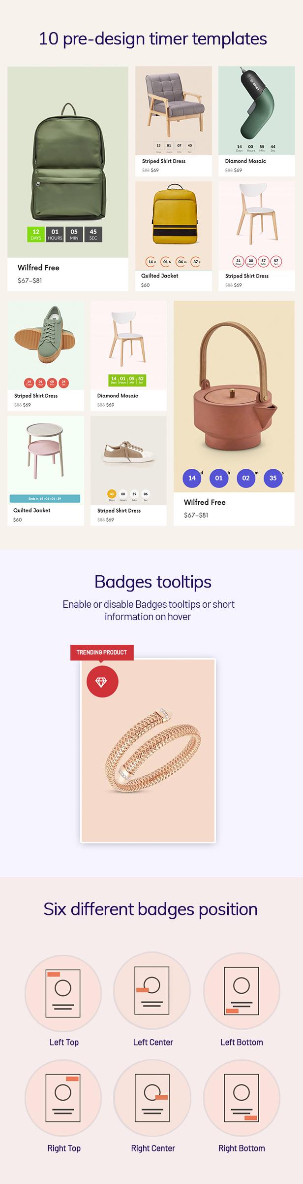 WOO Badge Designer- bố trí đếm ngược thời gian
