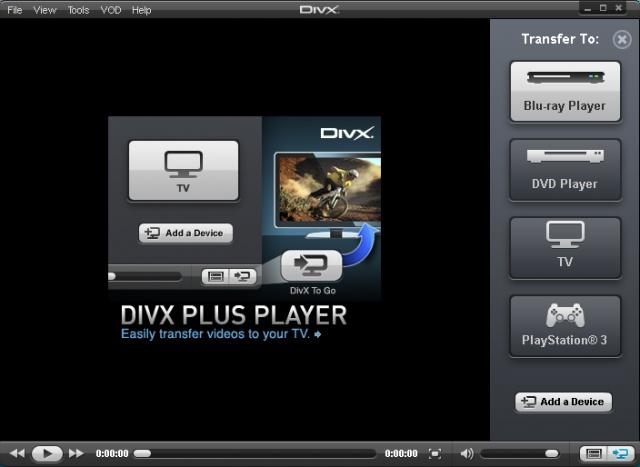 Phần mềm xem phim DivX Player