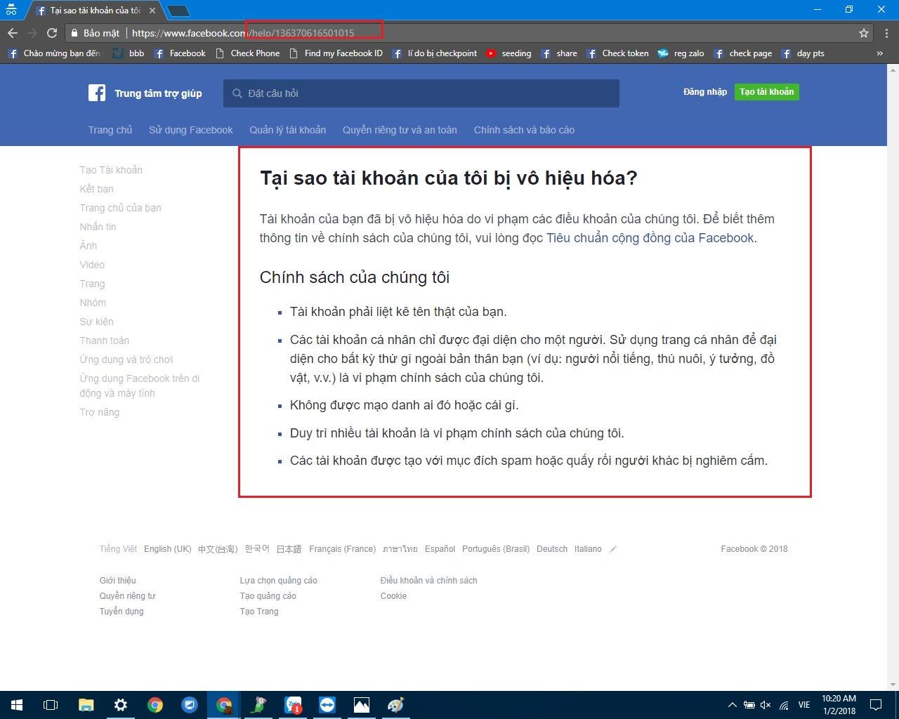Cách khôi phục tài khoản facebook khi bị vô hiệu hoá, FAQ 2020 3