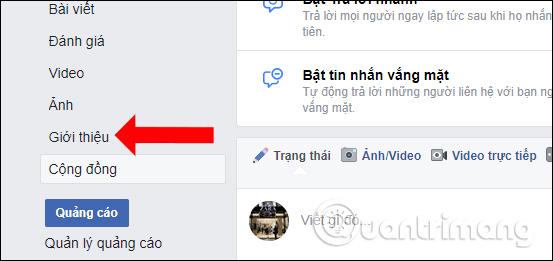 Giới thiệu trang Facebook