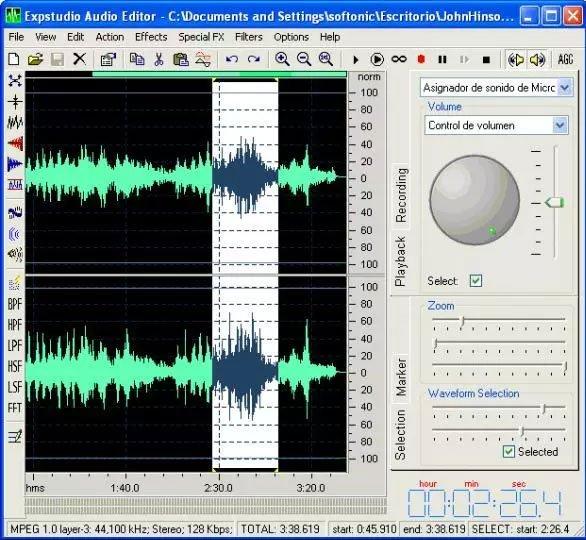 Phần mềm Expstudio Audio Editor Free