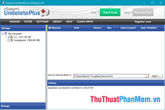 Phần mềm Undelete Plus